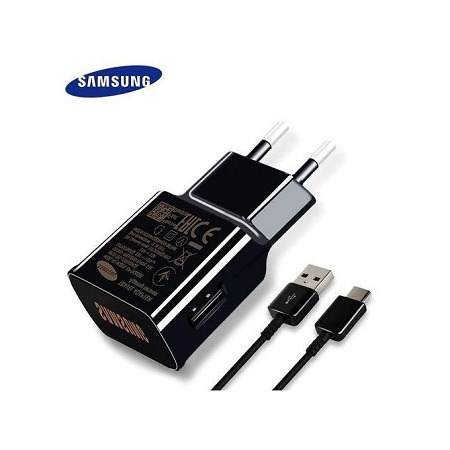Samsung S8 / S9 USB Wall Type C Cable Quick Adapter - 2Pin