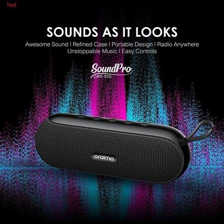 SoundPro OBS-52D Portable 10W Bluetooth Speaker