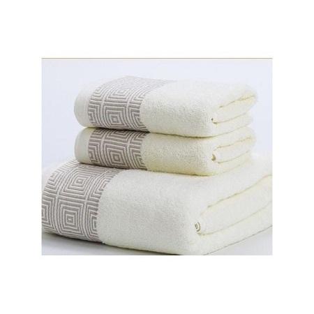 Bath cotton Towel Set - 3 Pieces blue large