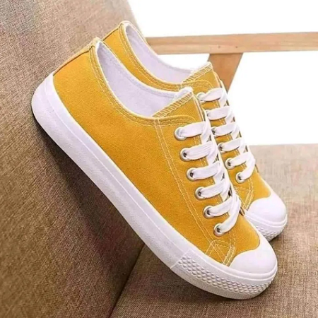 unisex canvas rubbers yellow
