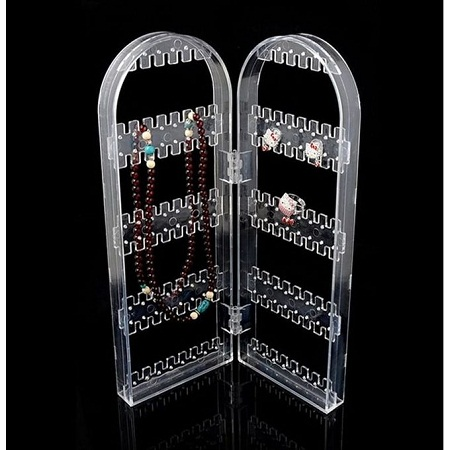 Two folder Achlyric Earings and Chains Organizer Stand clear standard size