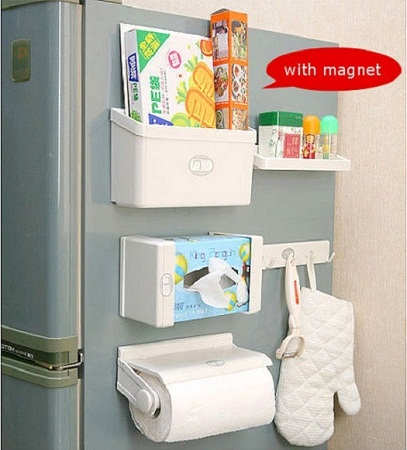 5 in 1 Magnetic Fridge Organizers -white