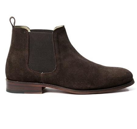 Men's Suede Leather Boot brown 43