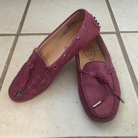 Tod's loafers- Maroon