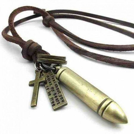 Bullet Pendant brown one size