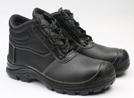 Long Lasting Safety Boots- Anti Static, Oil Acid Resistant- Black