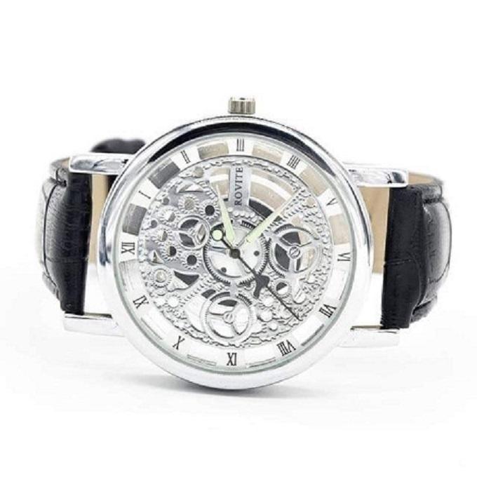 Men's Skeleton Black Watch - one size