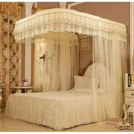 Mosquito Net With 2 Stands cream 6*6