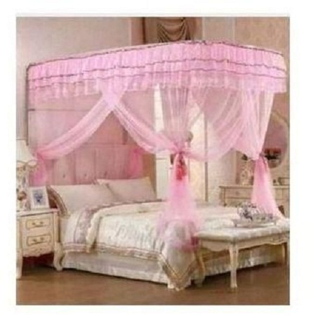Mosquito Net With 2 Stands pink 6*6