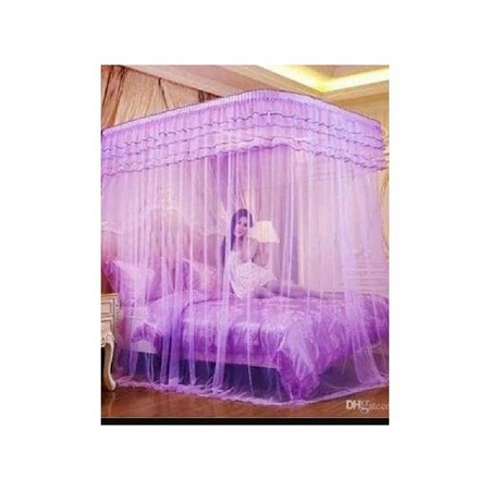 Mosquito Net With 2 Stands purple 6*6