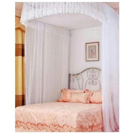 Mosquito Net With 2 Stands white 4*6