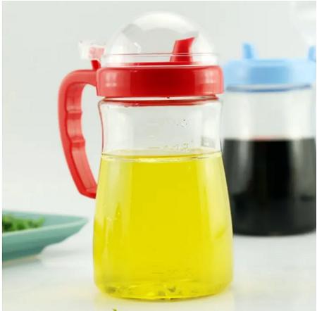 Generic Oil & Vinegar Glass Bottle Dispenser Green 1L
