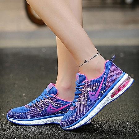 Women Light-Weight Running Sneakers - Pink+Blue