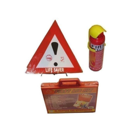 Bundle - Life Saver, Fire Extingusher + First Aid Kit - Multicolored