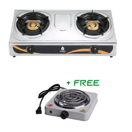 Double Gas Burner + FREE ELECTRIC HOTPLATE