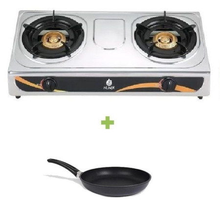 Lyons Double Gas Burner Stove + Pan