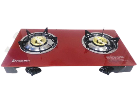 PREMIER HIGH QUALITY GLASS GAS STOVE TABLE TOP WITH DOUBLE BURNER