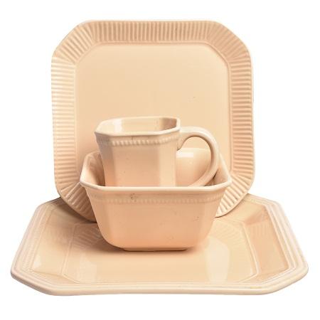 16pc Brown Dinner Set