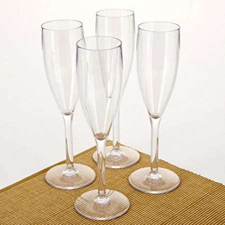 Acrylic Champagne Glass
