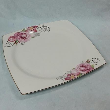 Bone China Dinner Plate New Pink