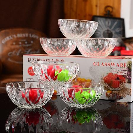 Bowl glass bowl smalls set of 6