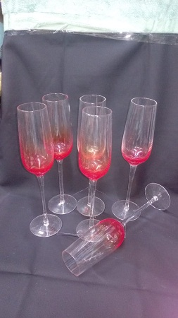 Champagne glass coloured