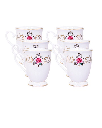 Damask shapely cup
