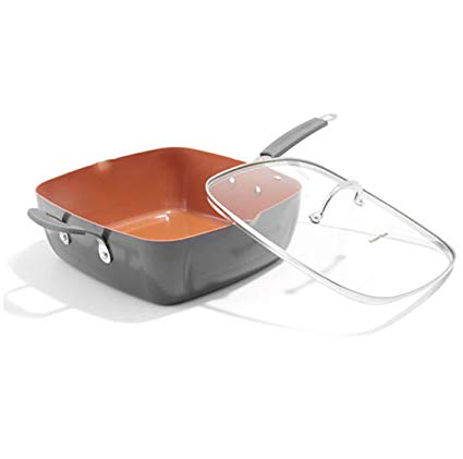 Deep Fry Pan Copper 28cm