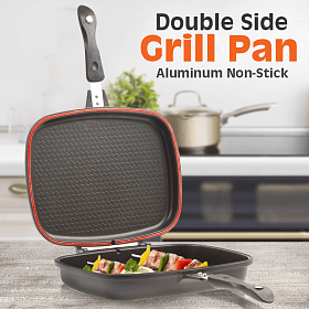 Grill Pan Magic Non Stick Double-Black 36cm