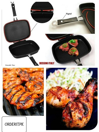Grill Pan Magic Non Stick Double-Black 40cm