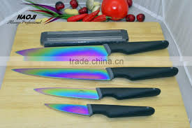 Knife set Titanium With Magnetic Holder