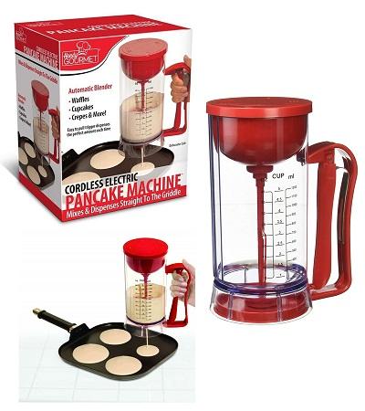 Pancake mixer battery