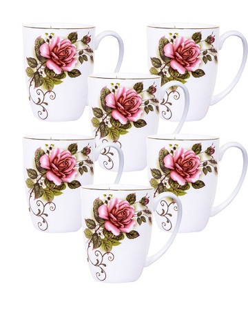 Pink and Green Colour Cup