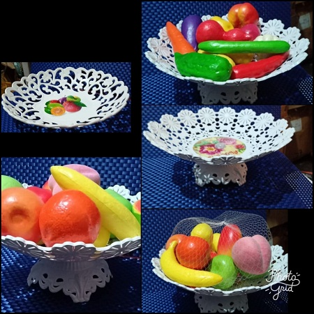 Plastic fruit stands