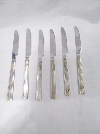 Spoon Steak Knife with gold line