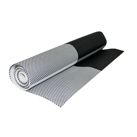 Table Mat Checked Black and White Runner