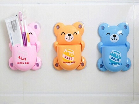 Teddy bear toothbrush holder