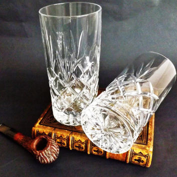 Water glasses silver flower
