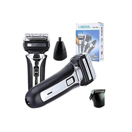 Nova 3 In 1 Electric Rechargeable Shaver And Trimmer