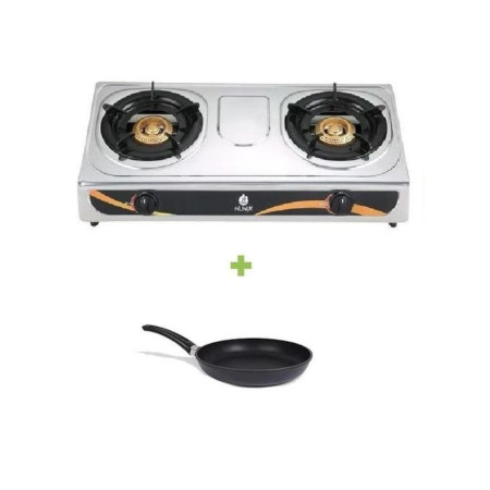 Nunix Double Gas Burner Stove + Pan