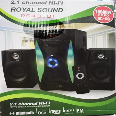 Royal Sound 2.1 SUB WOOFER MULTIMEDIA-BLUETOOTH/USB/FM-10,000W