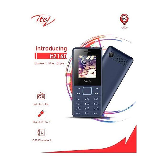 Itel It2160, 1.77inch, Fm Radio,1000 MAh,Dual Sim