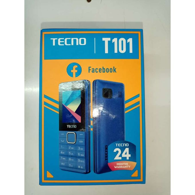 Tecno T101; Dual Sim. Wireless Fm, Black