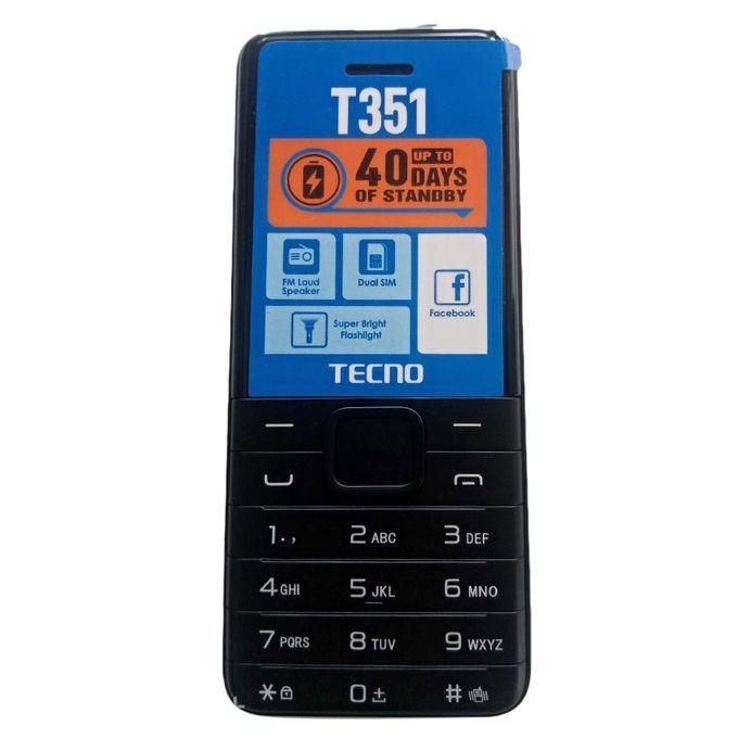 Tecno T351 Dual Sim Camera - 1900mAh - Black