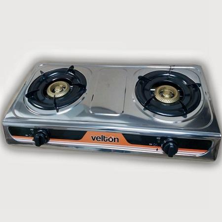 VELTON Stainless Steel Gas stove/cooker 2 burner Model No: VGS 7102
