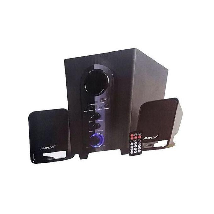 Ampex 002 Subwoofer BLACK, Bluetooth, 2.1Speakers -8800WATTS