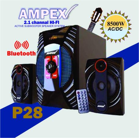 Ampex p28 SubWooferHighTech,Bluetooth,DigitalFM,USB,8500W