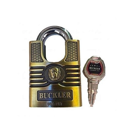 Buckler Fortified Hardened Padlock - Antic Gold