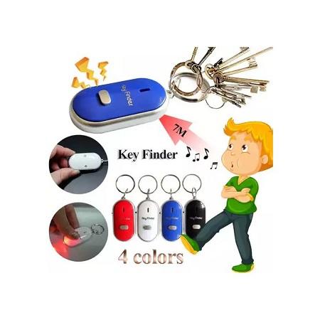 Mini-LED Whistle Key Finder Flashing Sound Alarm Anti-lost