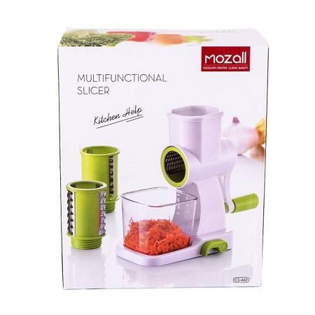 Mozall Multifunctional Kitchen Slicer - White & Green